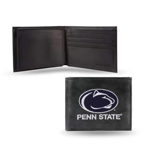 Penn State Nittany Lions Embroidered Leather Billfold Wallet