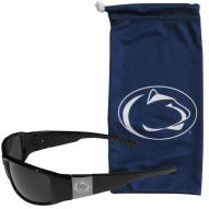 Penn State Nittany Lions Etched Chrome Wrap Sunglasses & Bag