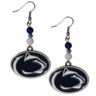 Penn State Nittany Lions Fan Bead Dangle Earrings