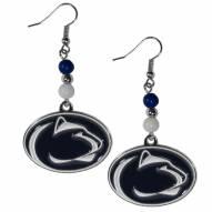 Penn State Nittany Lions Fan Bead Dangle Earrings