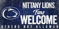 Penn State Nittany Lions Fans Welcome Wood Sign
