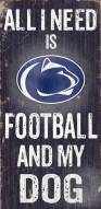Penn State Nittany Lions Football & Dog Wood Sign