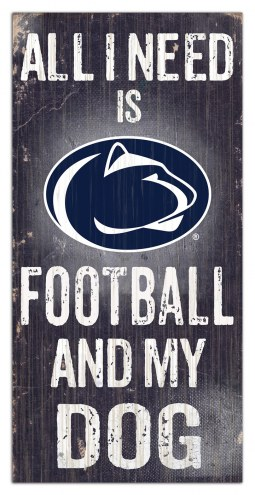 Penn State Nittany Lions Football & My Dog Sign