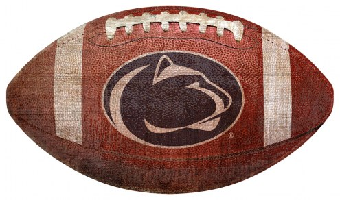 Penn State Nittany Lions Football Shaped Sign