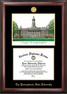 Penn State Nittany Lions Gold Embossed Diploma Frame with Campus Images Lithograph