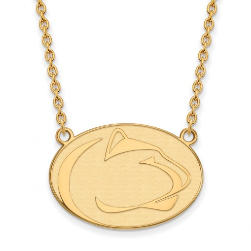 Penn State Nittany Lions Sterling Silver Gold Plated Large Pendant Necklace