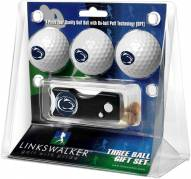 Penn State Nittany Lions Golf Ball Gift Pack with Spring Action Divot Tool