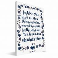 Penn State Nittany Lions Hand-Painted Song Canvas Print