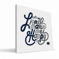 Penn State Nittany Lions Happy Canvas Print