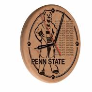 Penn State Nittany Lions Laser Engraved Wood Clock