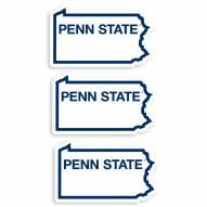 Penn State Nittany Lions Home State Decal - 3 Pack