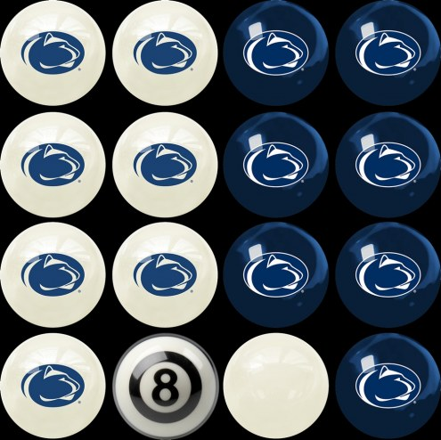 Penn State Nittany Lions Home vs. Away Pool Ball Set