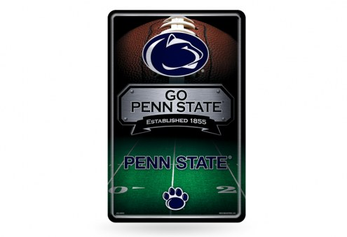 Penn State Nittany Lions Large Embossed Metal Wall Sign