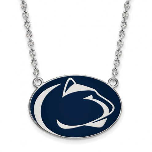 Penn State Nittany Lions Sterling Silver Large Enameled Pendant Necklace