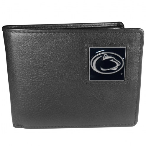 Penn State Nittany Lions Leather Bi-fold Wallet in Gift Box
