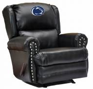 Penn State Nittany Lions Leather Coach Recliner