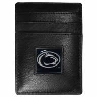 Penn State Nittany Lions Leather Money Clip/Cardholder in Gift Box