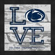 Penn State Nittany Lions Love My Team Square Wall Decor