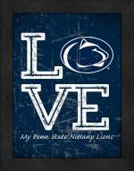 Penn State Nittany Lions Love My Team Vertical Color Wall Decor