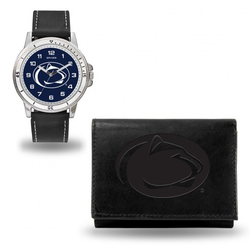 Penn State Nittany Lions Men's Chicago Watch & Wallet Set