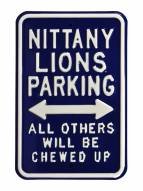 Penn State Nittany Lions NCAA Embossed Parking Sign
