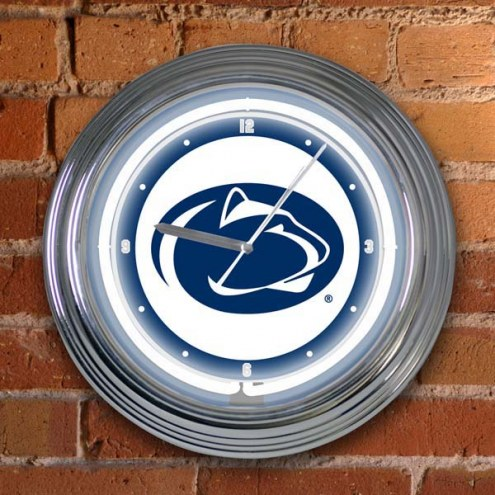 Penn State Nittany Lions NCAA Neon Wall Clock