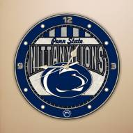 Penn State Nittany Lions NCAA Stained Glass Wall Clock