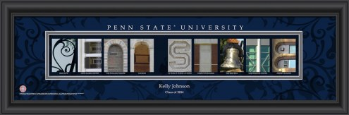 Penn State Nittany Lions Personalized Campus Letter Art