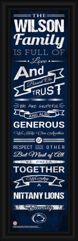Penn State Nittany Lions Personalized Family Cheer Framed Art
