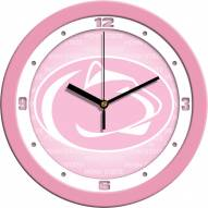 Penn State Nittany Lions Pink Wall Clock