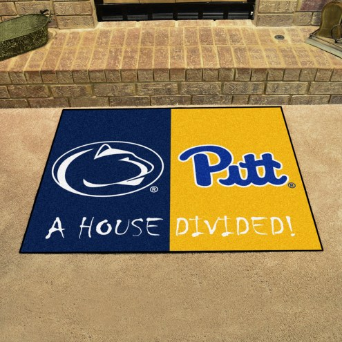 Penn State Nittany Lions/Pittsburgh Panthers House Divided Mat