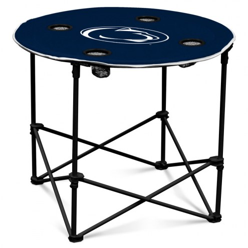 Penn State Nittany Lions Round Folding Table