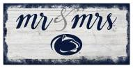 Penn State Nittany Lions Script Mr. & Mrs. Sign