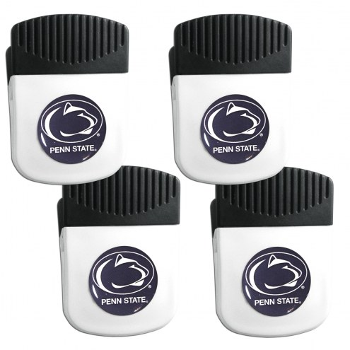 Penn State Nittany Lions 4 Pack Chip Clip Magnet with Bottle Opener