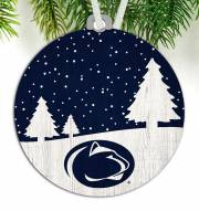 Penn State Nittany Lions Snow Scene Ornament