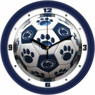Penn State Nittany Lions Soccer Wall Clock