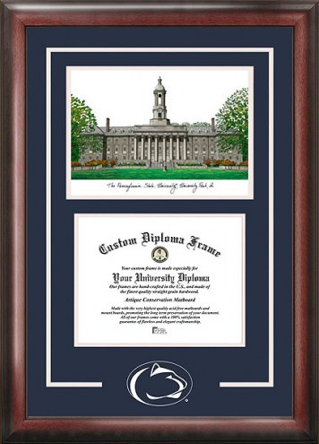 Penn State Nittany Lions Spirit Diploma Frame with Campus Image