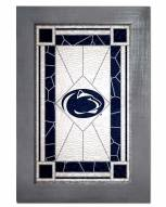 Penn State Nittany Lions Stained Glass with Frame