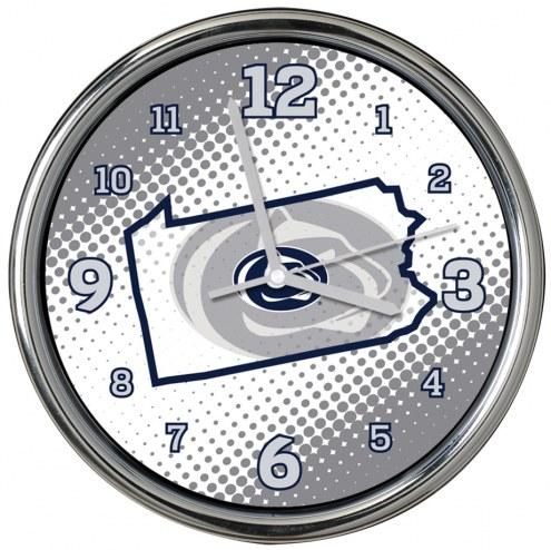 Penn State Nittany Lions State of Mind Chrome Clock