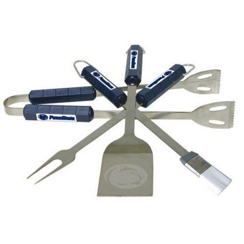 Penn State Nittany Lions NCAA 4-Piece Stainless Steel BBQ Set