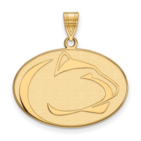 Penn State Nittany Lions Sterling Silver Gold Plated Large Pendant