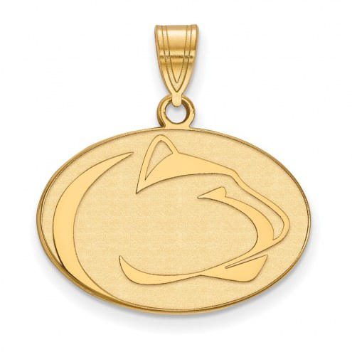 Penn State Nittany Lions Sterling Silver Gold Plated Medium Pendant