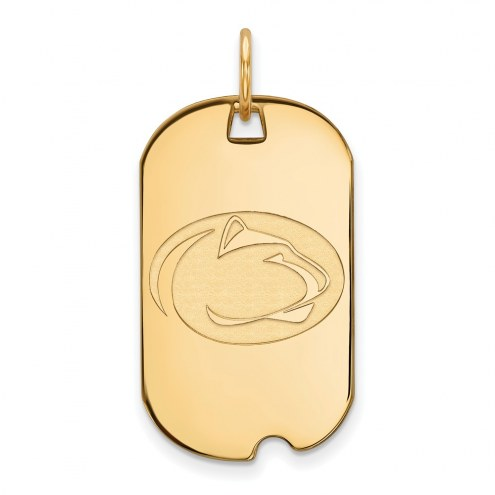 Penn State Nittany Lions Sterling Silver Gold Plated Small Dog Tag