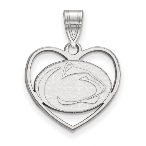 Penn State Nittany Lions Sterling Silver Heart Pendant
