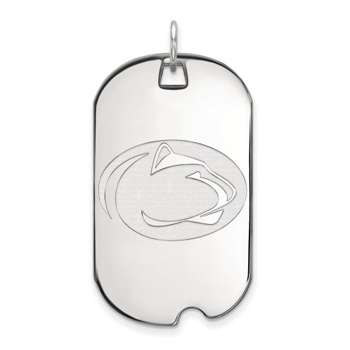Penn State Nittany Lions Sterling Silver Large Dog Tag