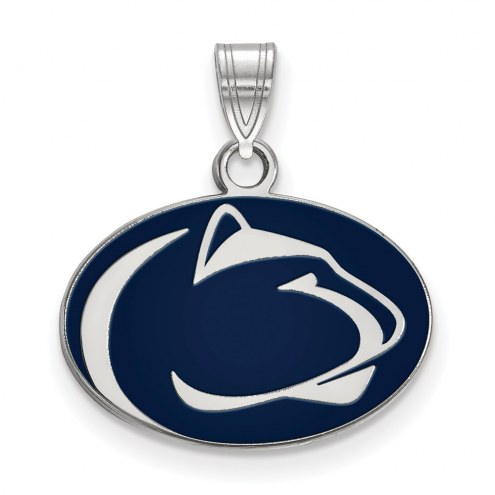 Penn State Nittany Lions Sterling Silver Small Enamel Pendant