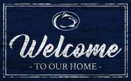 Penn State Nittany Lions Team Color Welcome Sign