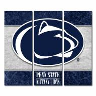 Penn State Nittany Lions Triptych Double Border Canvas Wall Art