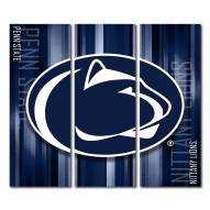 Penn State Nittany Lions Triptych Rush Canvas Wall Art