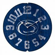Penn State Nittany Lions Vintage Round Clock